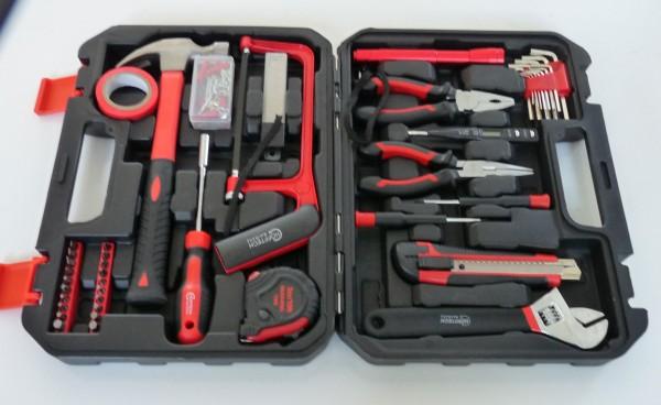 Werkzeugkoffer mit Inhalt - 108 Teile