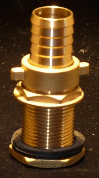 Tonnendurchführung/Tonnenanschluss1 Zoll (ca.33 mm) mit Schlauchtülle 25 mm