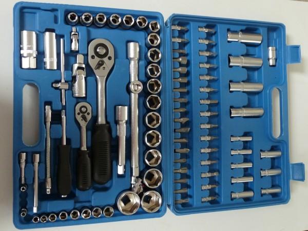 Steckschlüsselsatz mit Ratsche - 94 Teile -