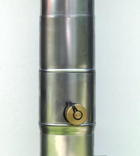 Regensammler aus Titanzink mit Schubstück NW 76, 80, 87 und 100 mm