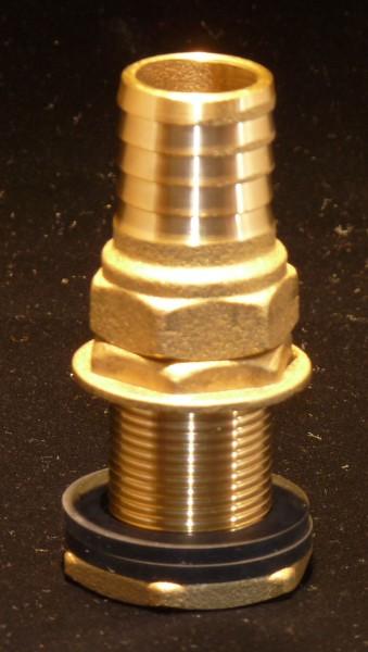 Tonnendurchführung/Tonnenanschluss 3/4 Zoll (26,4 mm)mit Schlauchtülle 25 mm