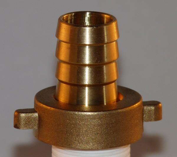 Sammleranschluss 1 Zoll (ca. 33 mm) aus Messing mit Schlauchtülle 19 mm